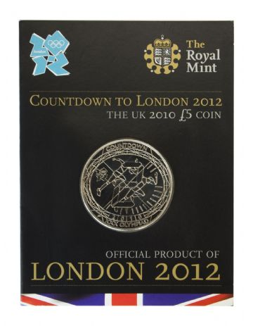 2010 COUNT DOWN TO THE OLYMPICS £5 COIN Short Version